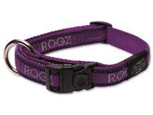 Obojek pro psa nylonový - Rogz Fancy Dress Purple Chrome - 2 x 45 - 75 cm