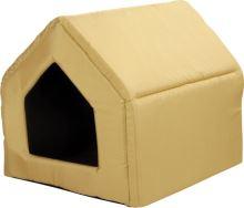 Bouda pro psy a kočky Argi - žlutá - 43 x 49 x 43 cm
