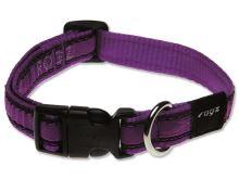 Obojek pro psa nylonový - Rogz Fancy Dress Purple Chrome - 1,6 x 26 - 40 cm