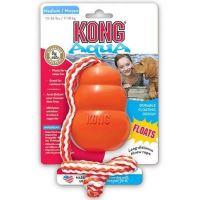 Kong Aqua Cool Kong Plovoucí superelastická hračka z gumy s pevným provazem