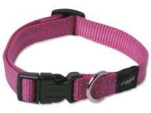 Obojek pro psa nylonový - Rogz Utility - růžový - 1,6 x 26 - 40 cm