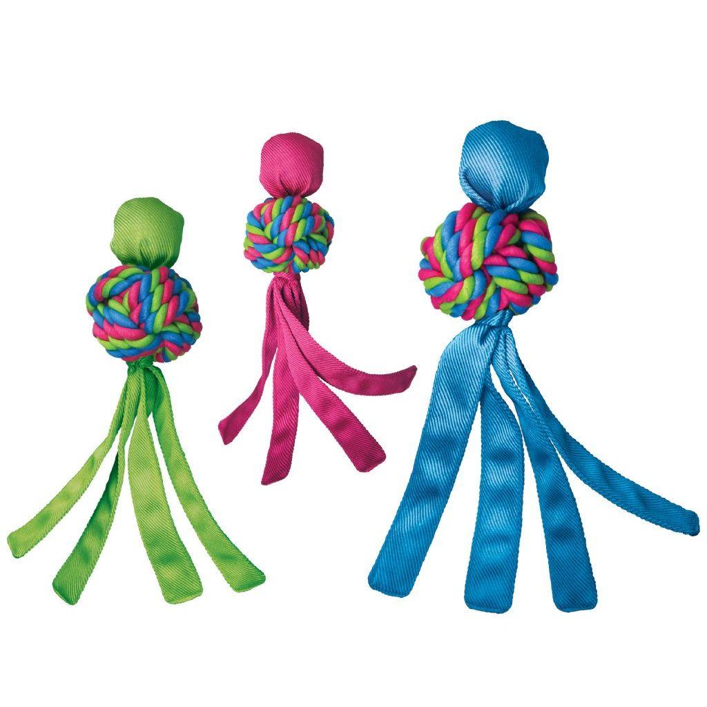 Kong guma Wubba Weaves Pískací hračka s třásněmi vhodná pro aport - S