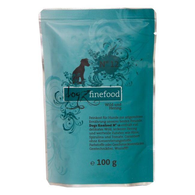 Dogz Finefood No.12 - zvěřina & sleď pro psy 100 g