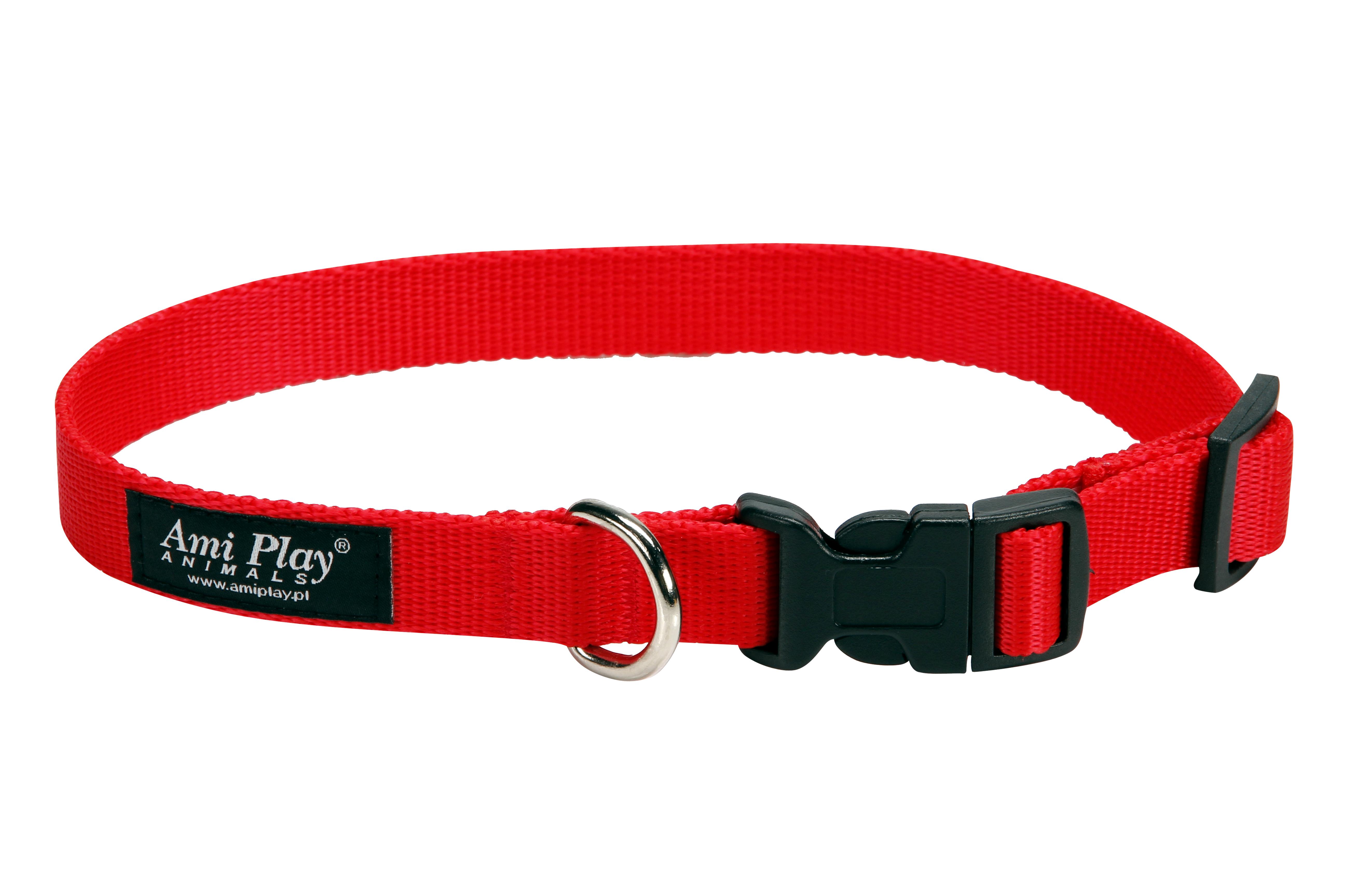 Obojek pro psa nylonový - červený - 2 x 35 - 50 cm