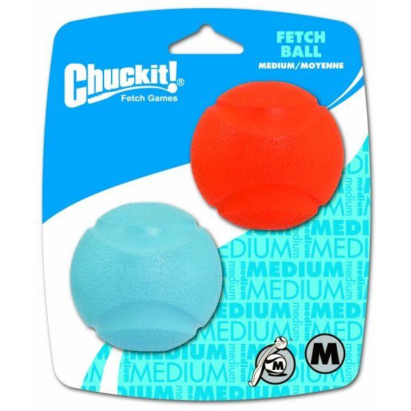 Chuckit! Fetch gumový aportovací míčky s velkým odskokem - M, 6,5 cm, 2 ks
