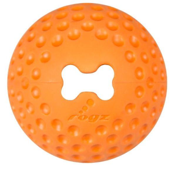 Rogz Gumz gumový míček pro psy plnicí oranžový - velikost L, průměr 7,8 cm
