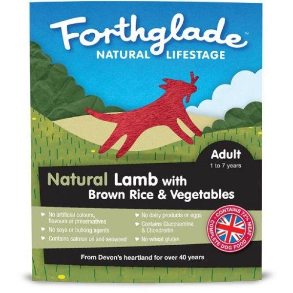 Forthglade Natural Lifestage Adult - jehně, hnědá rýže a zelenina 395 g