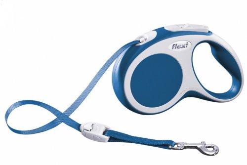 Vodítko FLEXI VARIO Pásek L 5m/60kg Modrá 1ks