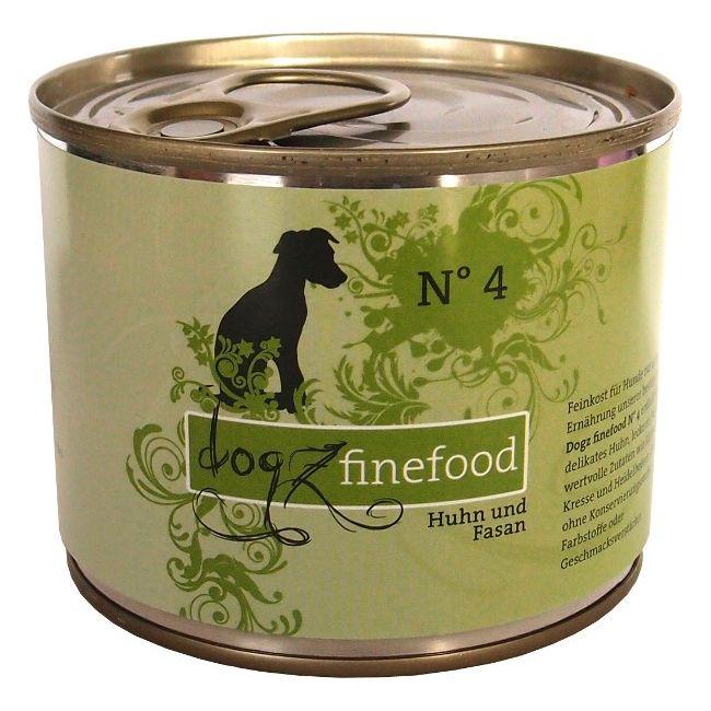 Konzerva pro psy Dogz finefood No.4 - s kuřecím a bažantím masem 200 g