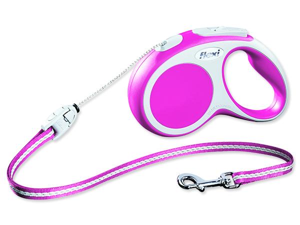 Flexi Vario Samonavíjecí vodítko lankové růžové - 5m/12kg