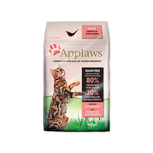 Krmivo APPLAWS Dry Cat Chicken & Salmon 400 g
