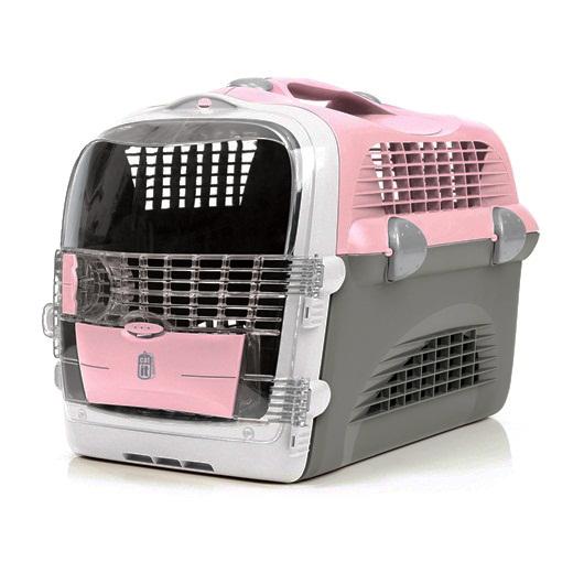 Hagen Cat It Design Cabrio přepravka růžovo-šedá