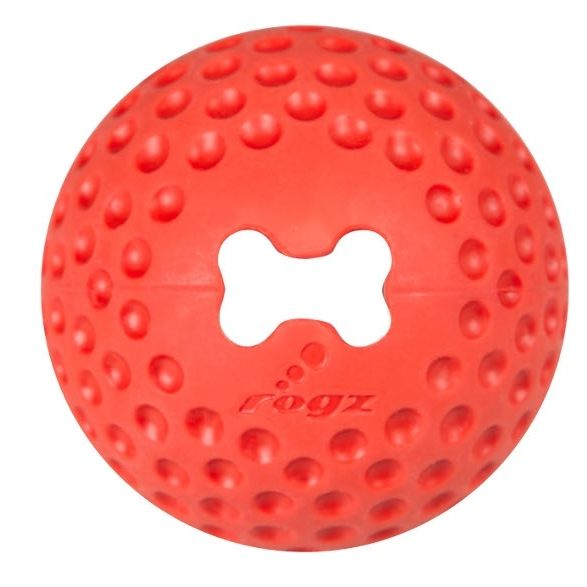 Rogz Gumz gumový míček pro psy plnicí červený - velikost M, průměr 6,4 cm
