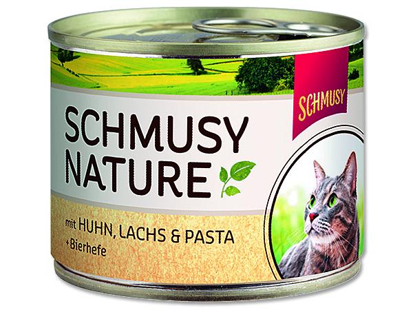 Schmusy Nature Menu - kuře & losos 190 g