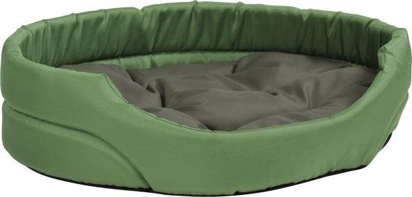Pelech pro psa Argi oválný s polštářem - zelený - 40 x 30 x 12 cm