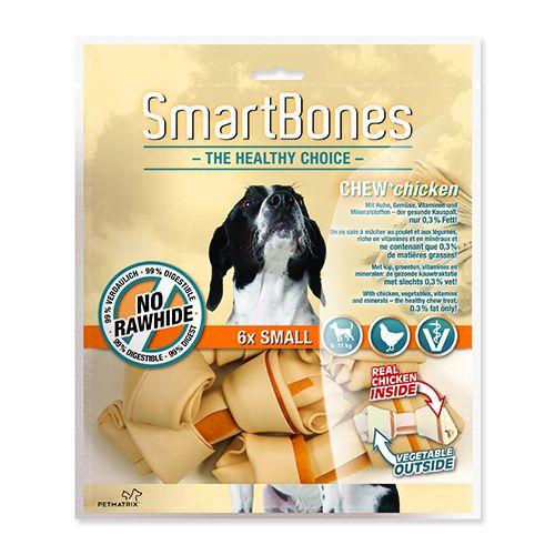 Hagen SmartBones Kuřecí žvýkací kosti pro malá plemena psů, 12 cm, 6 ks