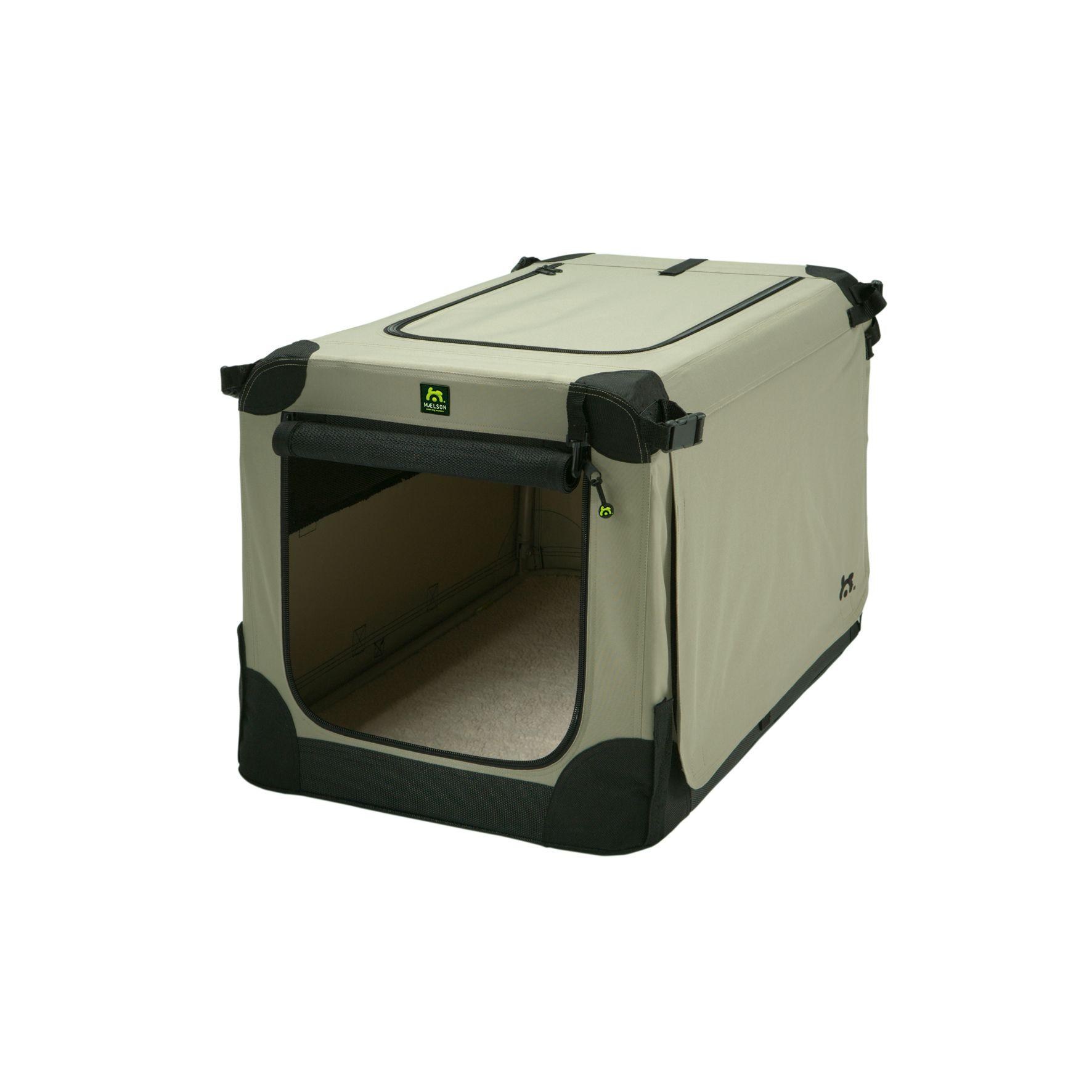 Přepravka pro psy Maelson - černo-béžová - S, 62x41x41 cm