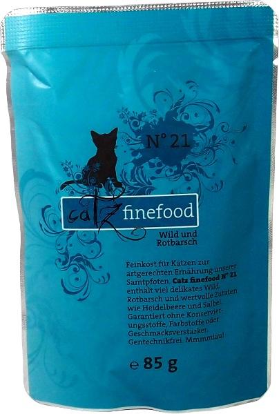 Catz Finefood No.21 - zvěřina & okouník pro kočky 85 g