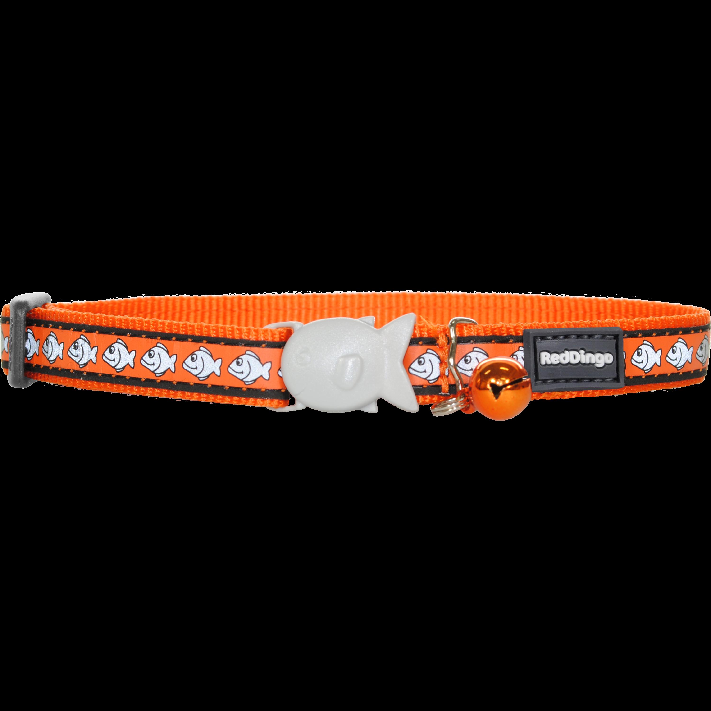Red Dingo Reflexní obojek pro kočku oranžový