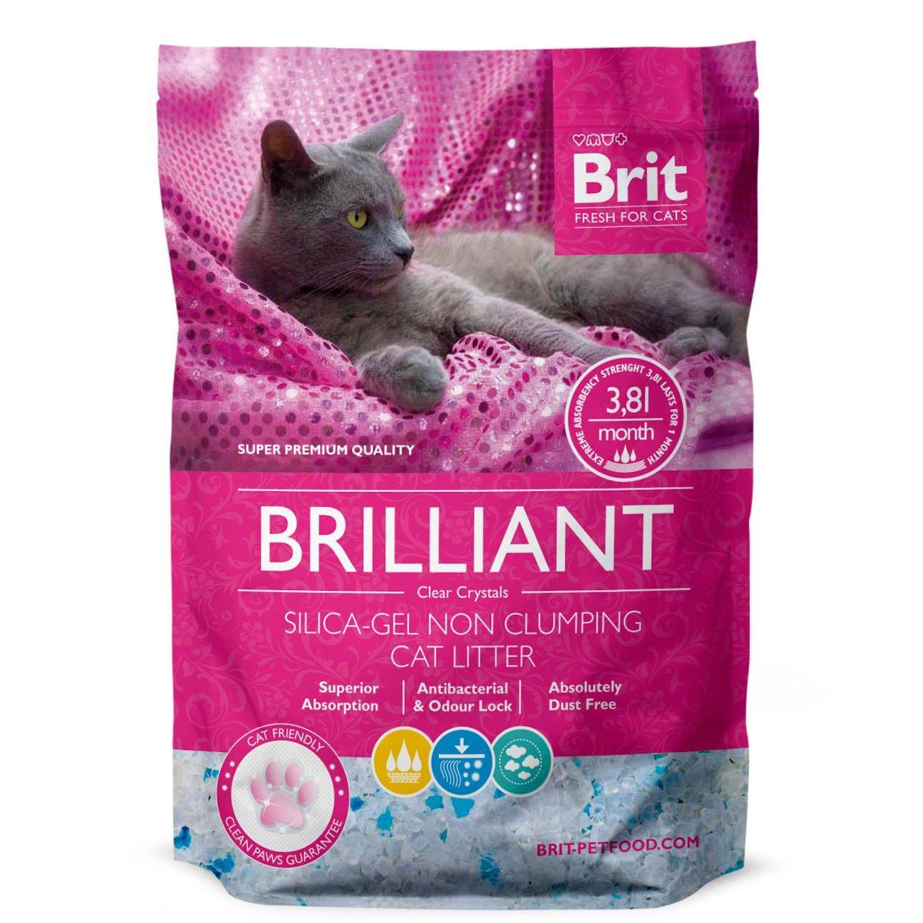 Brit Care Brilliant Silica-gel silikátová podestýlka 3,8 l