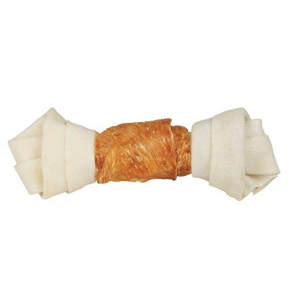 Trixie Dentafun Uzel z buvolí kůže svázaný kuřecím masem, 12 cm, 6 ks