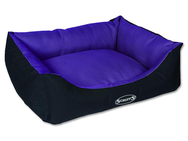 Scruffs Expedition Box Bed Pelech švestkový - velikost M, 60x50 cm