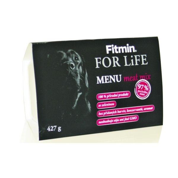 Fitmin For Life Menu Meat Mix - masová směs vanička pro psy 427 g