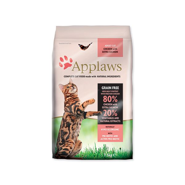 Krmivo APPLAWS Dry Cat Chicken & Salmon