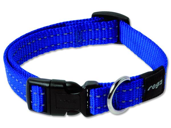 Obojek pro psa nylonový - Rogz Utility - modrý - 1,6 x 26 - 40 cm
