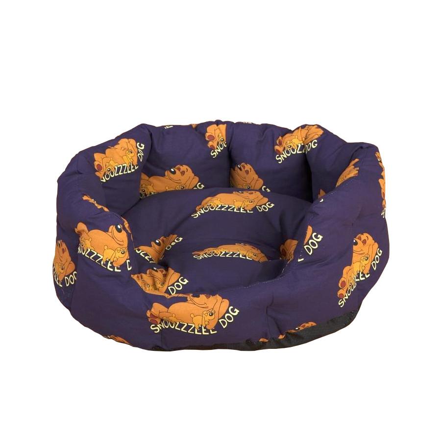 Snoozzzeee Relax bavlněný pelech ovál fialový, 58 cm