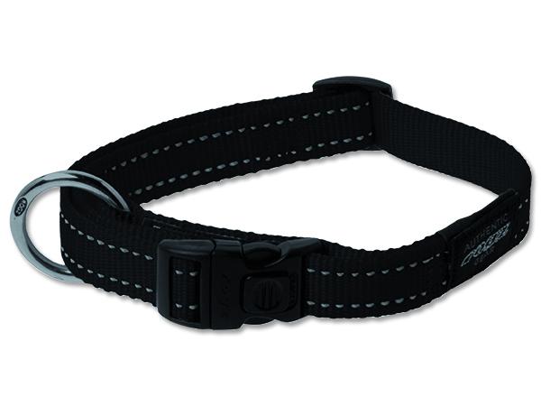 Obojek pro psa nylonový - Rogz Utility - černý - 2 x 34 - 56 cm