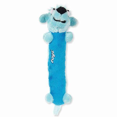 Rogz Clones Sausage Plyšová pískací hračka pro štěňata modrá, 22 cm
