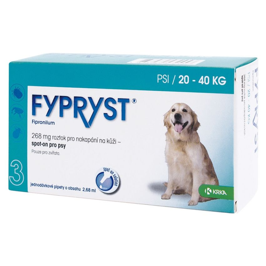 Fypryst Antiparazitní pipeta pro psy 20-40 kg, 2,68 ml, 3 ks