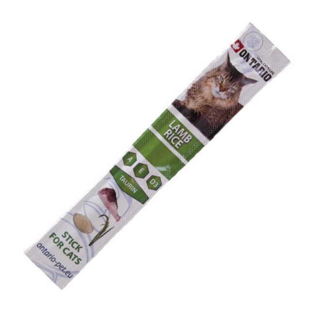 Ontario Stick Lamb & Rice - tyčinka jehně & rýže pro kočky a koťata 5 g