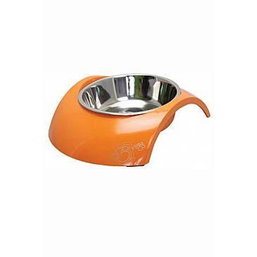 Rogz miska pes nerez/ plast Luna 2v1 oranžová 350 ml