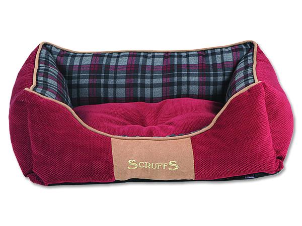Scruffs Highland Box Bed pelíšek pro psy červený - velikost S, 50x40 cm