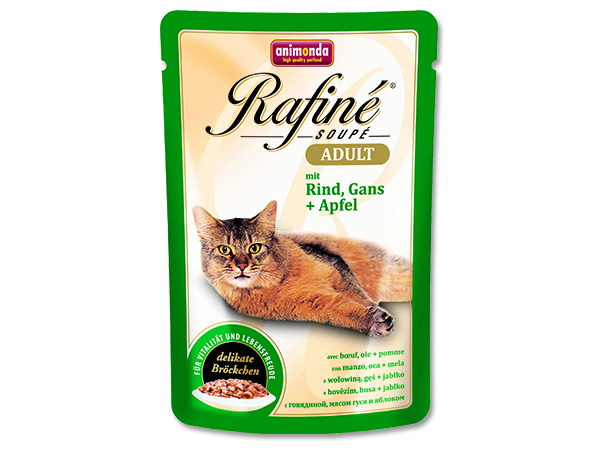 Kapsičky pro kočky Animonda Rafine Soupe hovězí + husa + jablko 100 g