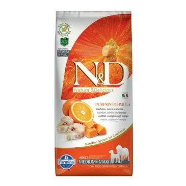 N&D GF Pumpkin DOG Adult M/L Codfish & Orange 12 kg