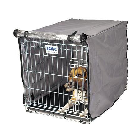 Savic Dog Residence Nylonový přehoz na klec šedo-stříbrný - 91 cm