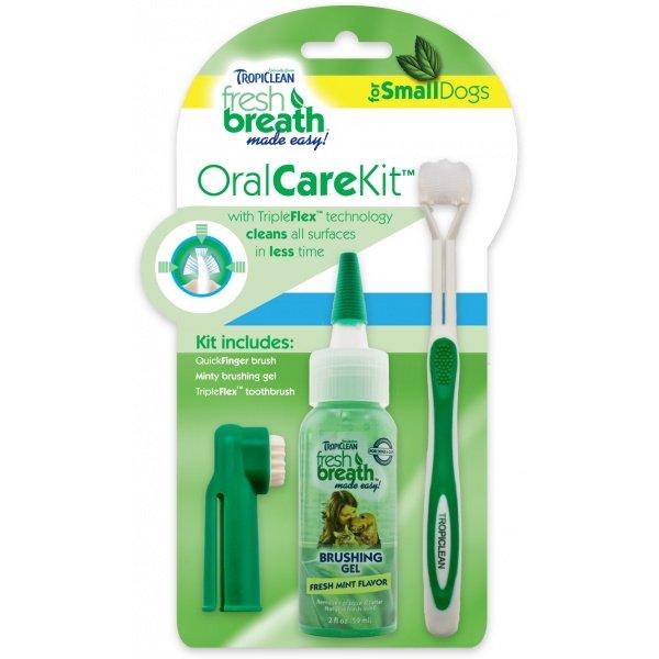 Tropiclean Oral Kit Gel na zuby s kartáčky pro psy 59 ml