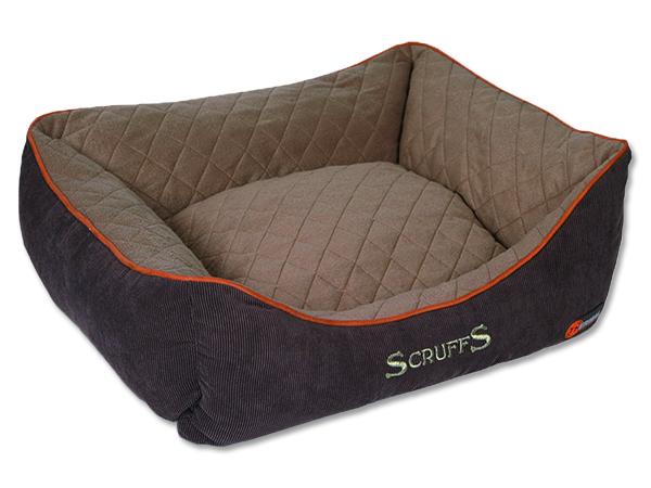 Scruffs Thermal Box Bed Termální pelíšek hnědý - S, 50x40 cm