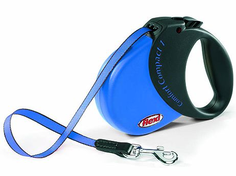 Flexi Comfort Compact 1 samonavíjecí vodítko modré, 5 m