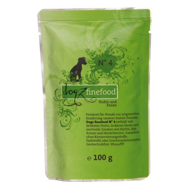 Dogz Finefood No.4 - kuře & bažant pro psy 100 g