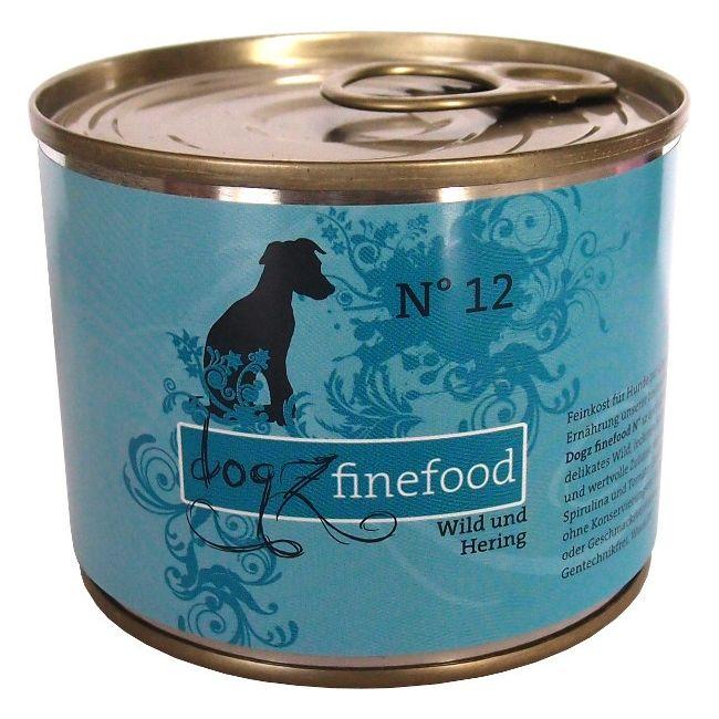 Dogz Finefood No.12 - zvěřina & sleď pro psy 200 g