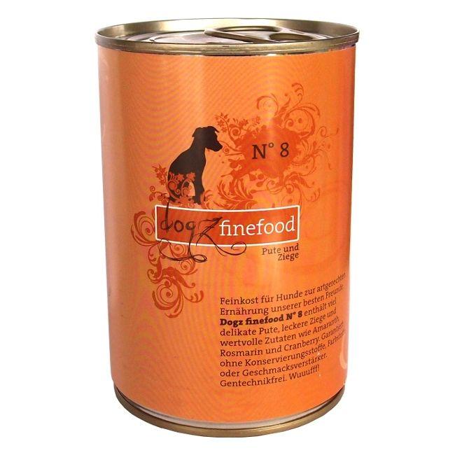 Dogz Finefood No.8 - s krůtím a kozím masem pro psy 400 g