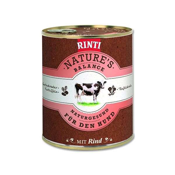 Rinti Nature's Balance hovězí & brambory & vejce pro psy 800 g