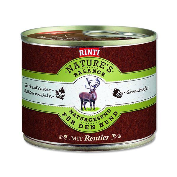 Rinti Nature's Balance sob & těstoviny & vejce pro psy 190 g