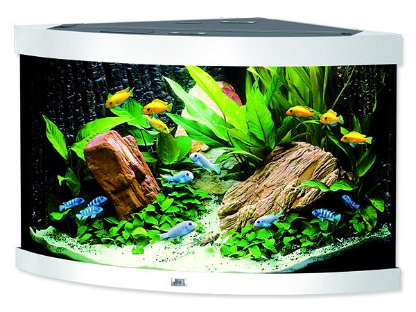 Juwel Trigon 190 akvárium set rohový bílý 98x60x50 cm, objem 190 l