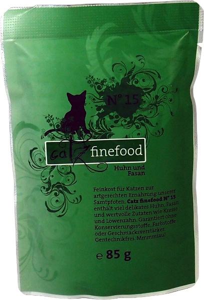 Catz Finefood No.15 - kuře & bažant pro kočky 85 g