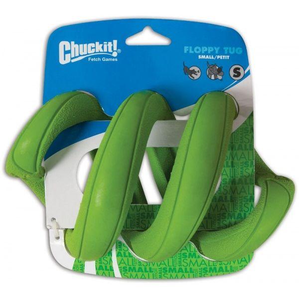 Chuckit! Floppy Tug gumové přetahovadlo ve tvaru pružiny zelené - velikost S, 20x12 cm